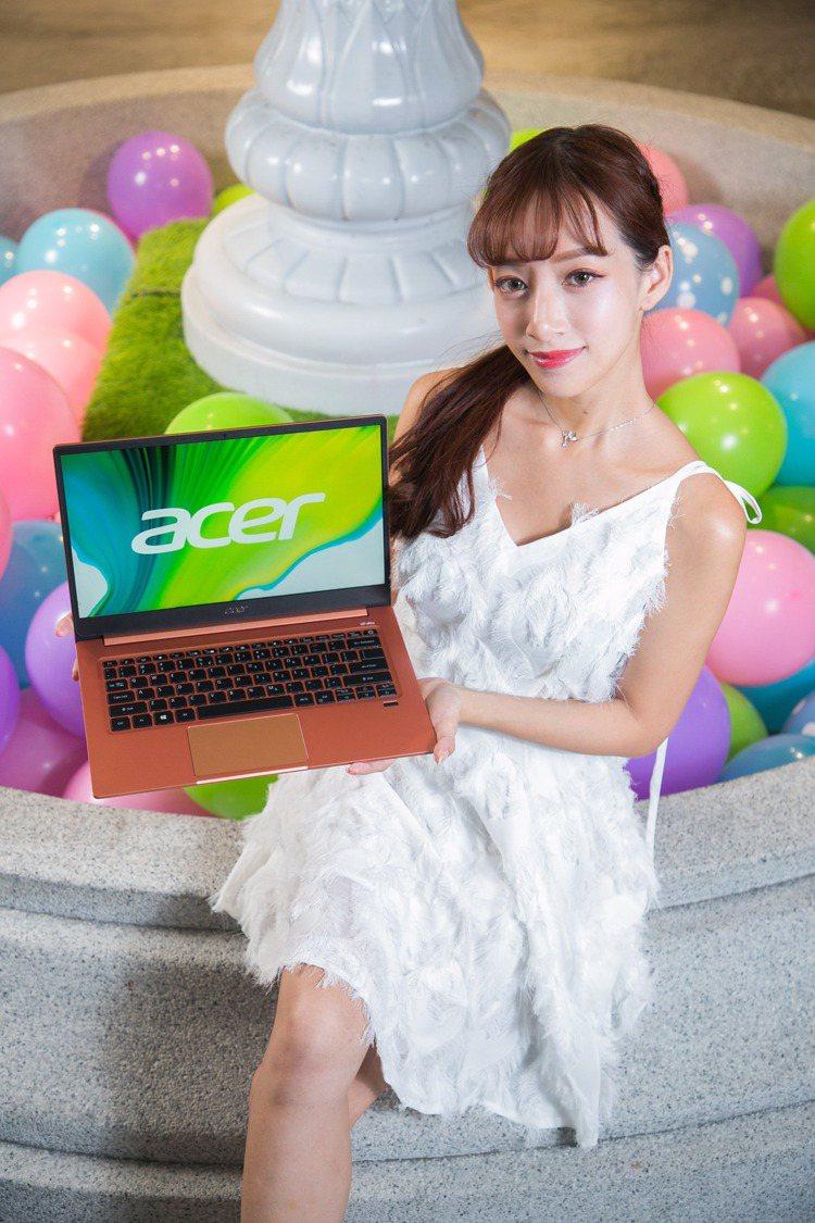 粉色系Acer Swift 3 i5輕薄筆電全國電子女王節現省4,000元,女王...