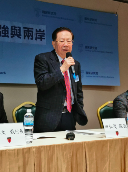 國策研究院院長田弘茂表示,台灣要不斷加強自己的防衛的能力。為避免擦槍走火,應考慮...