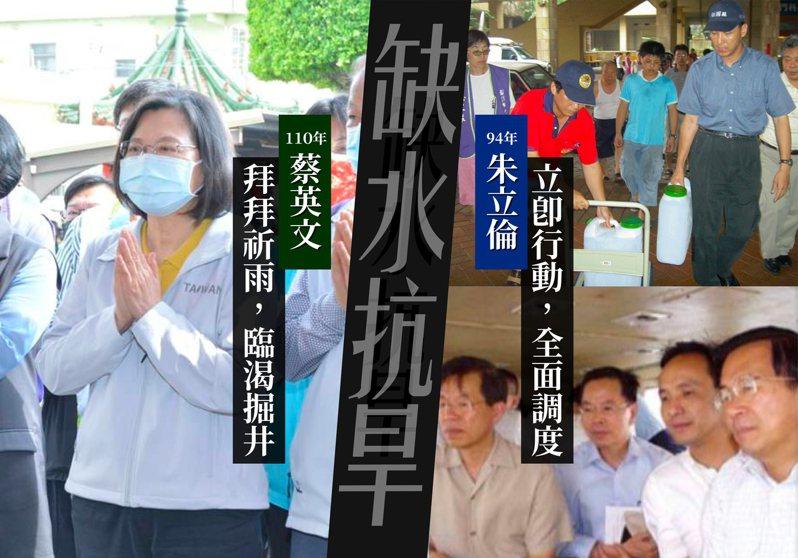 國民黨前主席朱立倫在臉書提醒蔡政府,乾旱祈雨、臨渴掘井不如立即行動。圖/取自朱立倫臉書