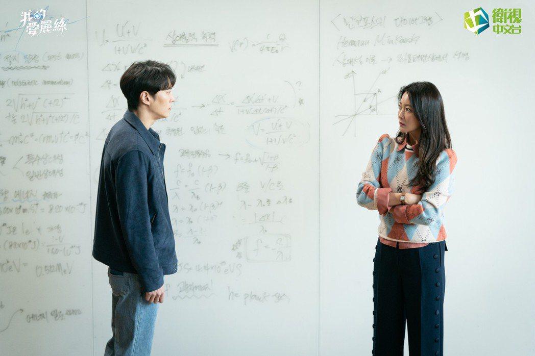 周元(左)與金喜善合作「我的愛麗絲」。圖/衛視中文台提供