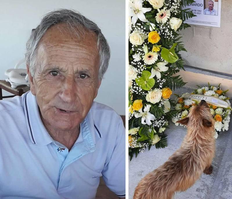 一位老人因病離世,狗狗用自己的方法來到墓地靜靜悼念牠最愛的主人。(facebook@Sara Sechi)