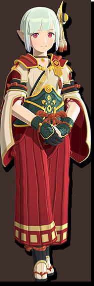 艾娜的服裝:「神火村接待員服裝」