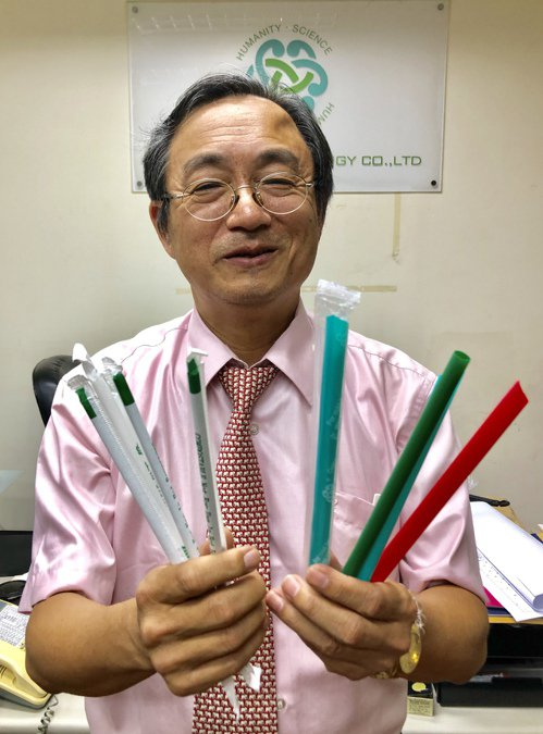 化工博士出身,銘安科技董事長黃建銘找出讓微生物可以吃的塑膠解方。 圖/聯合報系資...
