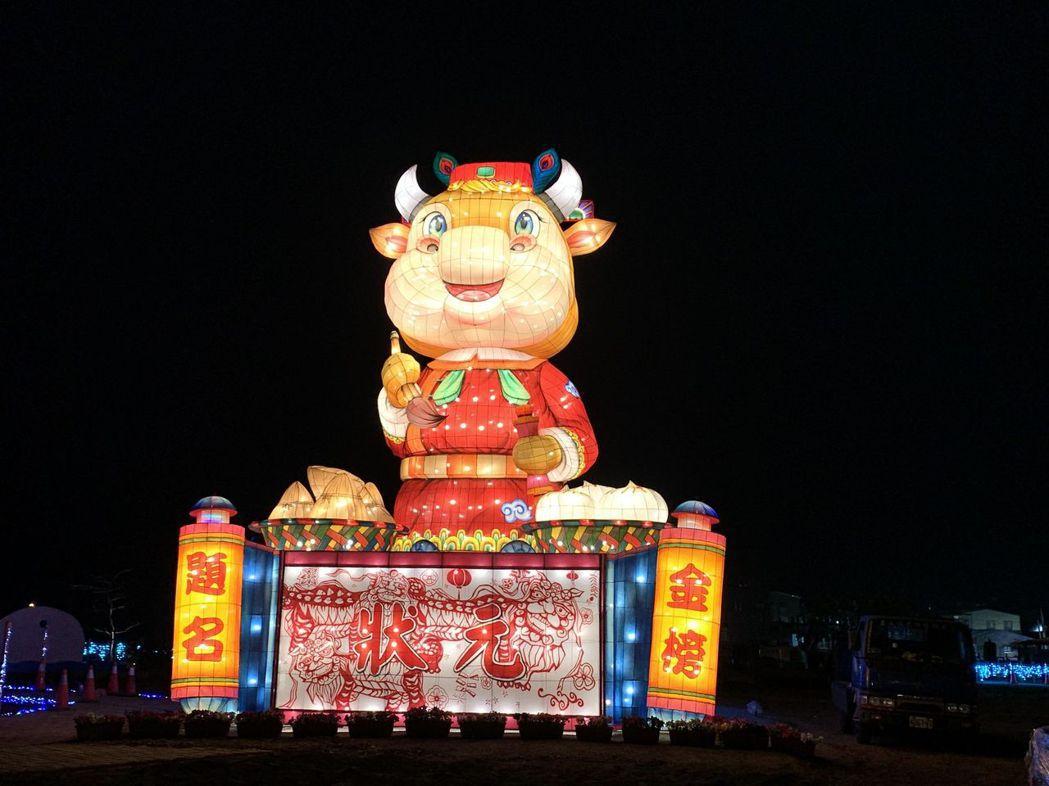 臺南北門副燈「犢站金榜」。  雲嘉南管理處/提供