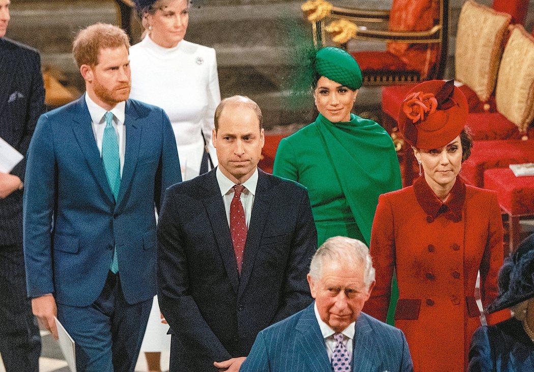 哈利與梅根去年三月九日出席西敏寺的國協日禮拜。這是兩人最後一次出席王室公開活動。...