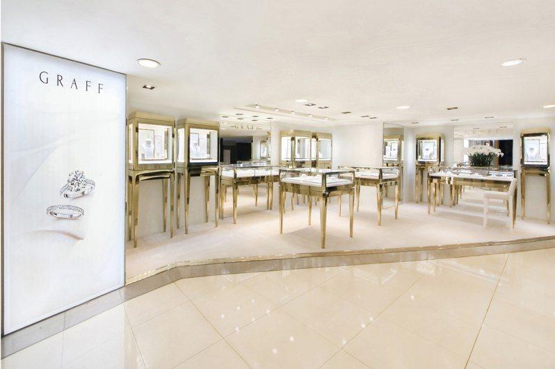格拉夫首度於台北SOGO復興館一樓開設全台第一家體驗店。圖/格拉夫提供