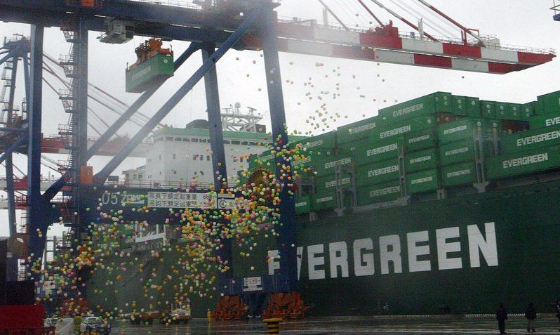 歷經六年建設的台北港舉行啟動儀式。圖/聯合報系資料照片