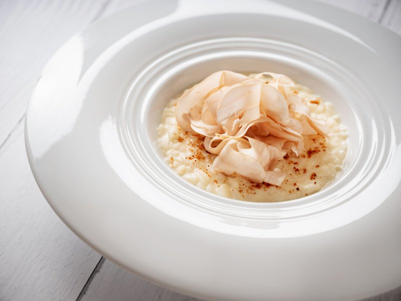 蕈菇燉飯。圖/CROM Taipei提供。