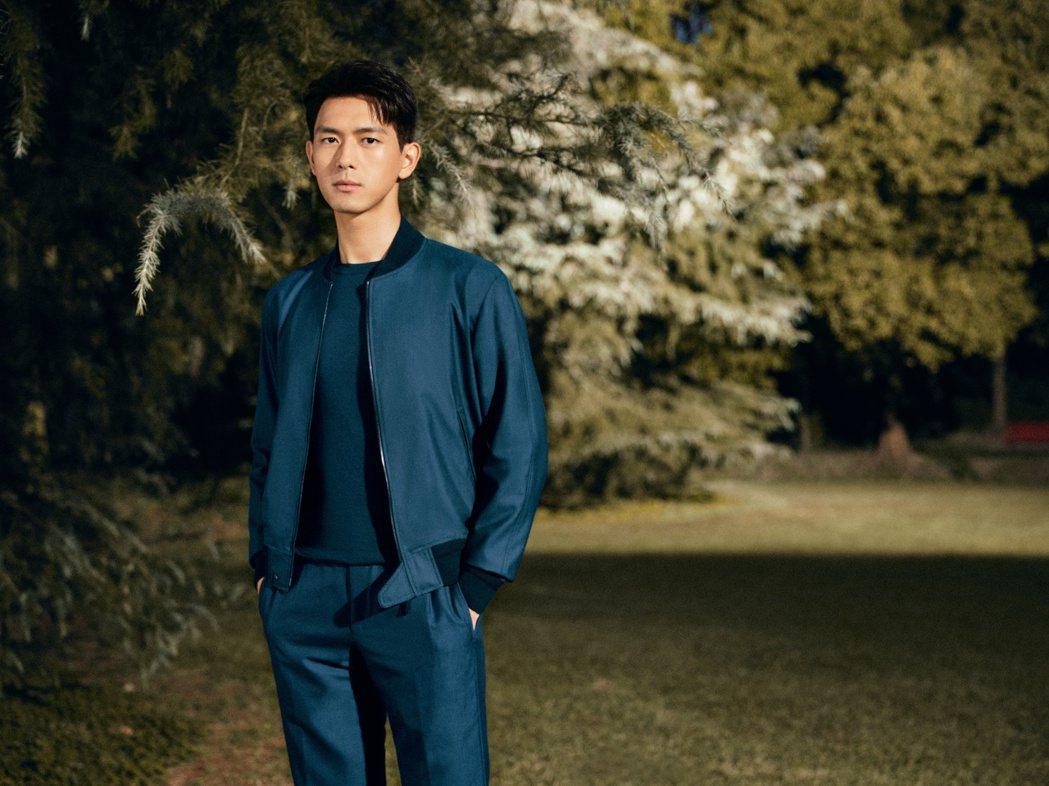 大陸男星李現成為西服品牌代言人。圖/傑尼亞提供