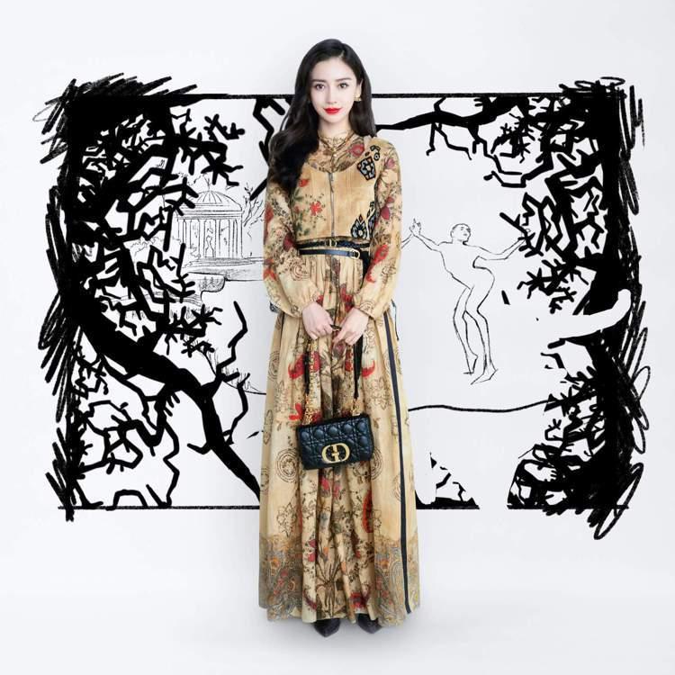 Angelababy觀賞了DIOR 2021秋冬大秀影片。圖/DIOR提供