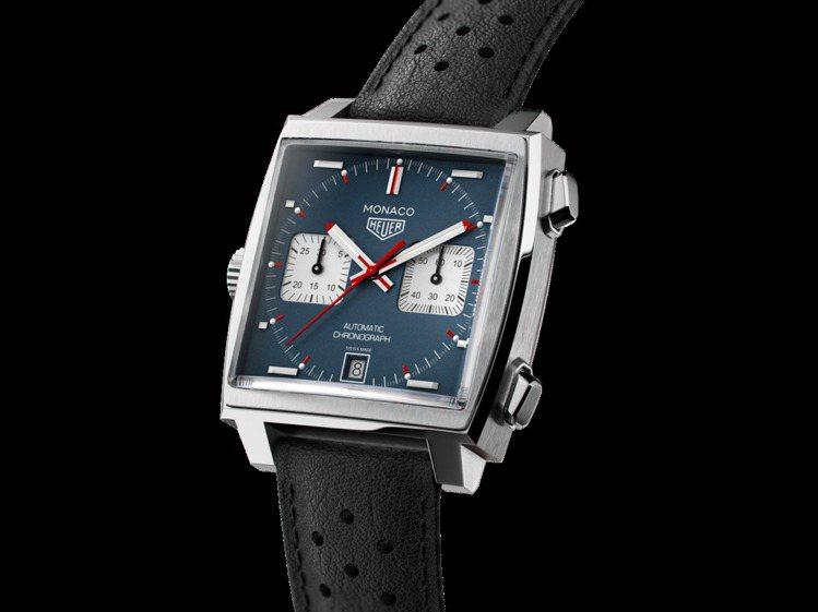 泰格豪雅Monaco計時碼表,不鏽鋼表殼搭載Calibre 11機芯,約20萬8...