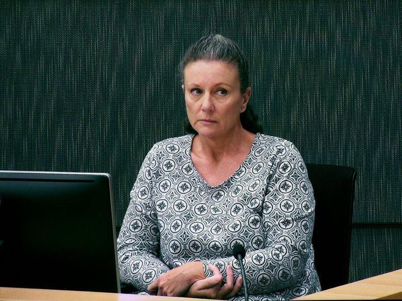 澳洲婦人凱瑟琳.福比格被指控殺死四名親生子女,於2003年被判刑40年。圖為她2019年再次出庭。歐新社