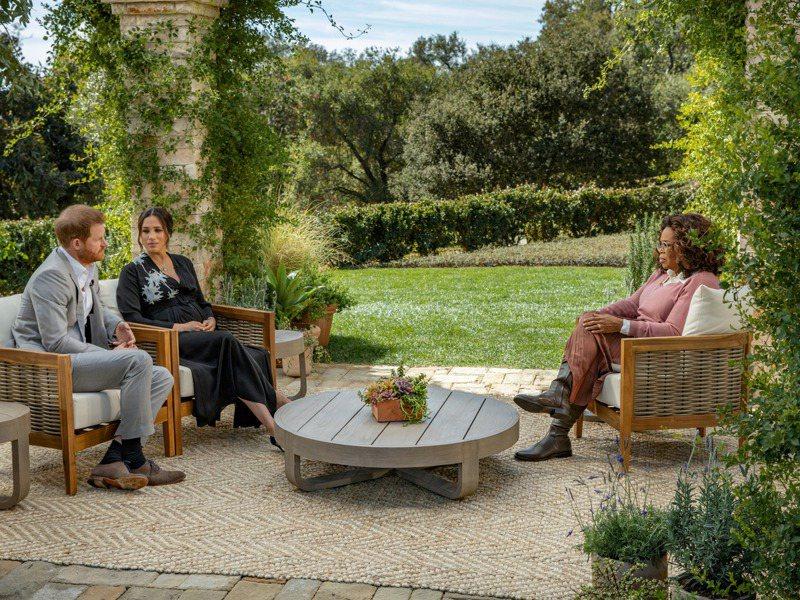 哈利王子與妻子梅根接受歐普拉專訪。 路透
