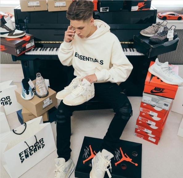 英國知名球星是運動鞋私人採購品牌Fedor Sneaks鐵粉。圖/取自IG@fedorsneaks