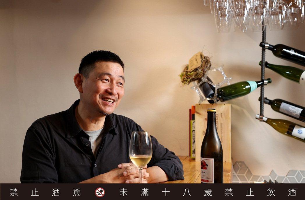 林裕森認為,葡萄酒本質還是佐餐飲料,好喝才是重點。記者余承翰/攝影 <b sty...