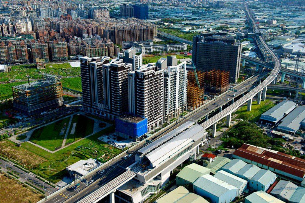 低利率資金回流建設到位 新莊預期成新北商辦新熱點。 圖片來源/交通部鐵道局