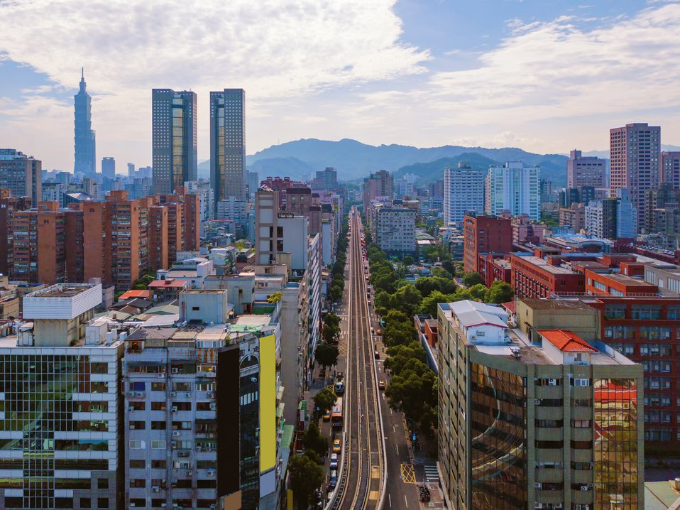 台北房屋街道圖。圖/Ingimage