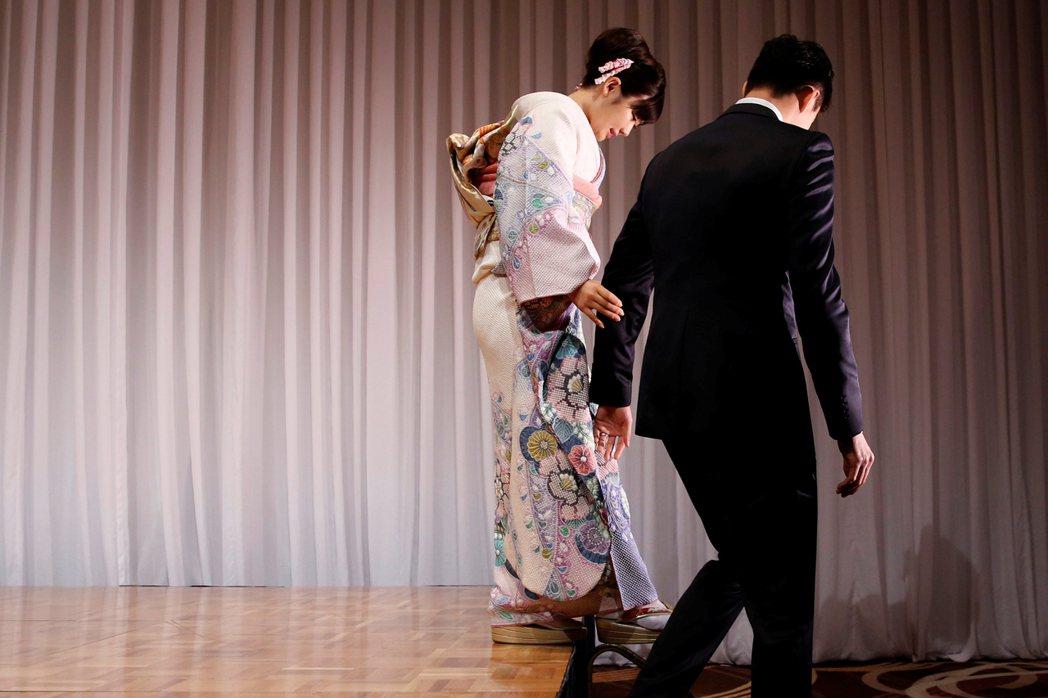 圖為近日傳出婚姻問題的福原愛與江宏傑。 圖/路透社