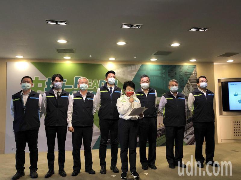 台中市長盧秀燕今宣布中捷3月25日恢復試營運1個月。記者陳秋雲/攝影