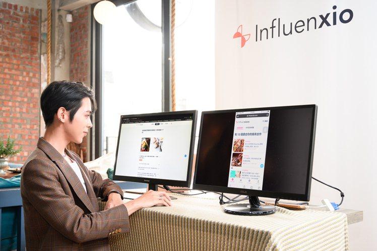 Influenxio平台導入AI技術,輸入需求即可主動推薦品牌主合適的網紅人選,...