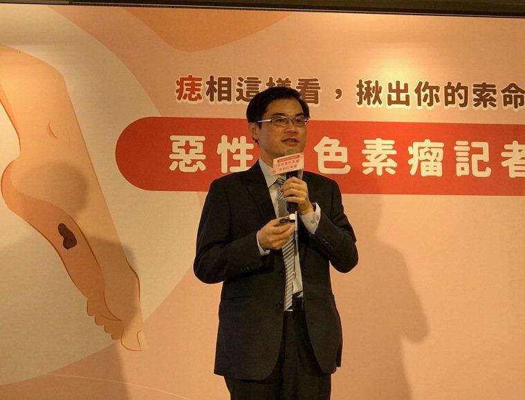 台灣皮膚科醫學會理事長、台大醫院皮膚部主治醫師朱家瑜表示,惡性黑色素瘤因為「惡化...