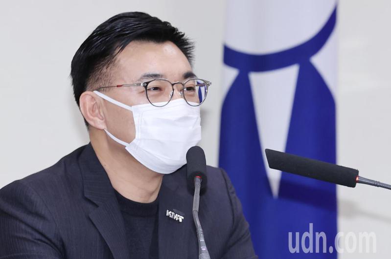 國民黨主席江啟臣。記者曾學仁/攝影