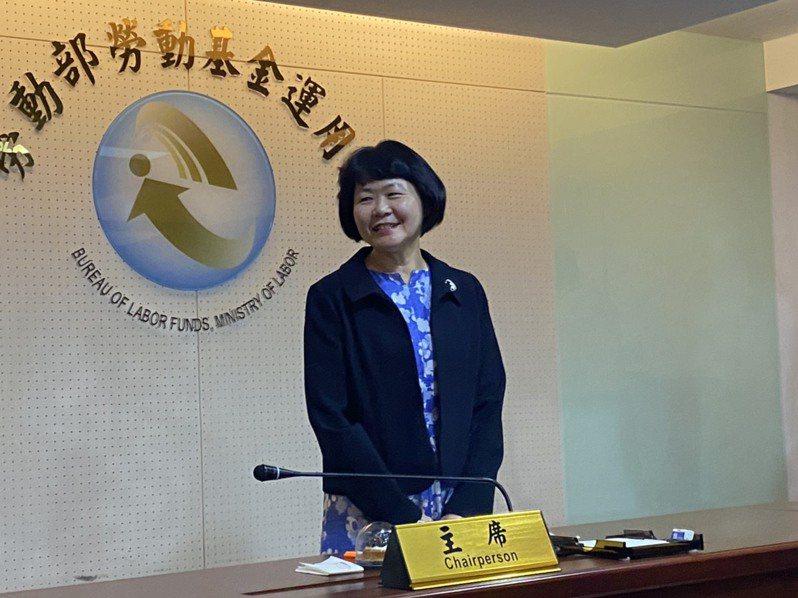 勞動部勞動基金運用新任局長由前金管會主秘蘇郁卿接任。 記者葉冠妤/攝影
