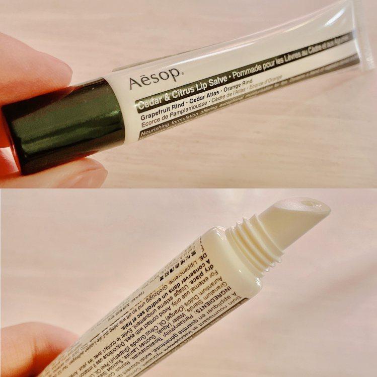 Aesop雪松橙香護唇膏/9mL/600元。記者劉小川/攝影