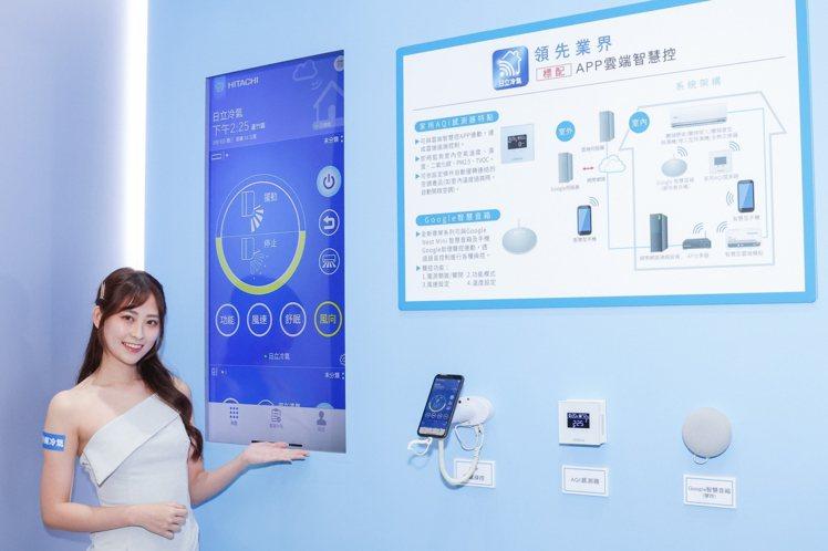 「雲端智慧控」App可串連多款日立空調產品建構日立空氣淨化網,支援Google智...