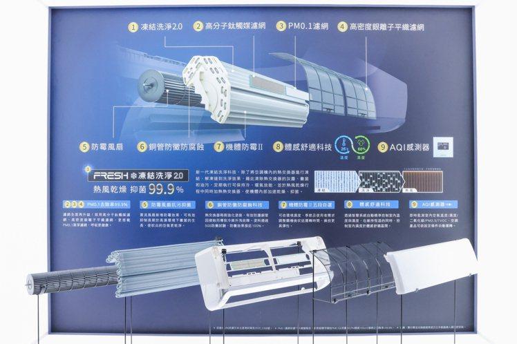 日立冷氣集結9大科技技術,讓使用者「享受幸福溫度,呼吸最好空氣」。記者沈昱嘉/攝...