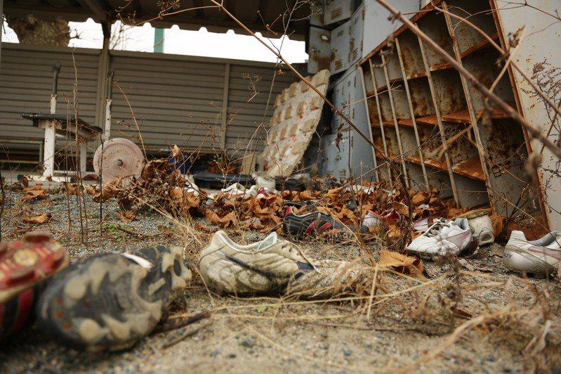 福島縣立葉高等學校曾在核災發生時,擔任政府安置災民的場所,目前已成荒棄場地。 圖/聯合報系資料照片