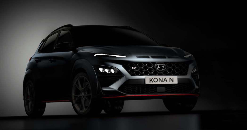 全新Hyundai Kona N是以小改款Kona式樣作為建構基礎。 摘自Hyu...