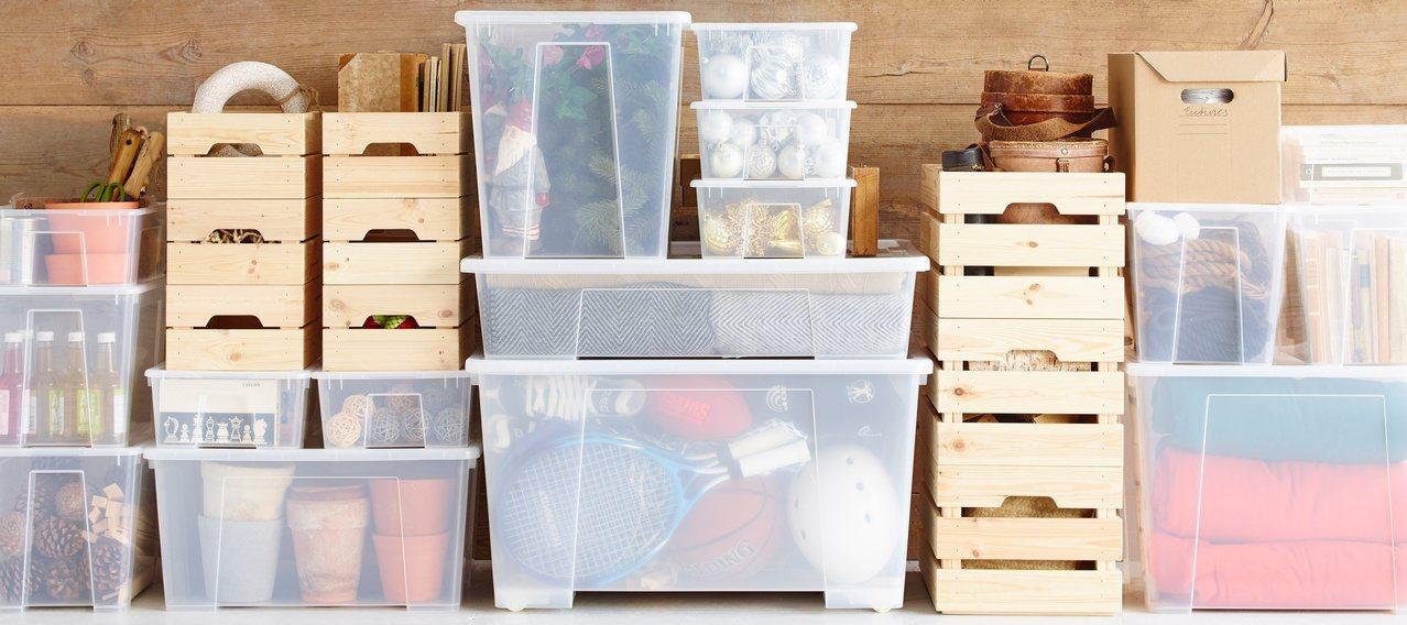 IKEA SAMLA收納盒系列有多種尺寸可選擇,可堆疊收納節省空間。 圖/IKE...