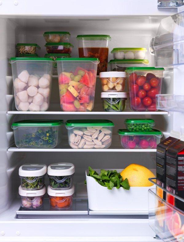 IKEA PRUTA保鮮盒17件組是廚房、冰箱收納的好幫手。 圖/IKEA提供