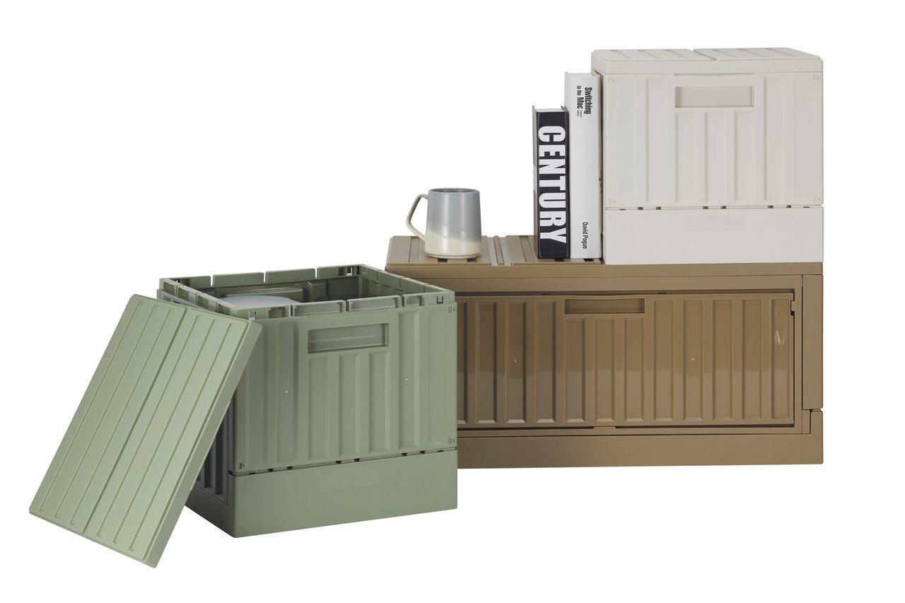 HOLA側開/掀蓋摺疊貨櫃箱系列。 圖/HOLA特力和樂提供