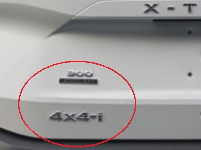 左下方貼上了300 VC-Turbo與4x4-i的車型標章。 摘自搜狐汽车