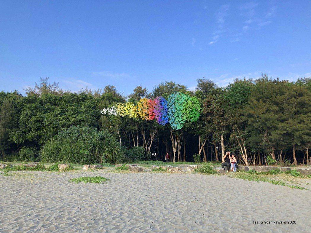藝術家蔡筱淇與吉川公野合作《海的耳語》作品模擬圖。 圖/台南市文化局提供