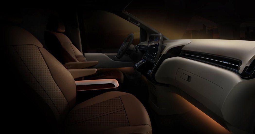 全新Hyundai Staria車室呈現簡約高級風格。 摘自Hyundai