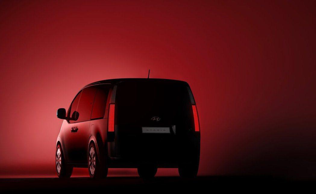 全新Hyundai Staria預告剪影圖。 摘自Hyundai