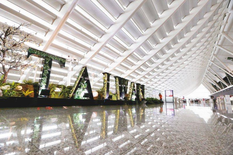 圖為桃園機場第一航廈2020年5月的情況。 聯合報系資料照片/記者陳嘉寧攝影
