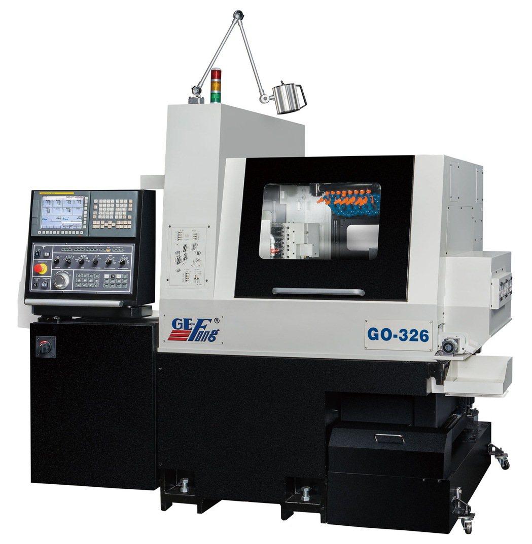 甚受加工業者青睞的GO-326多功能走心櫛式CNC精密車床。 錡夆/提供