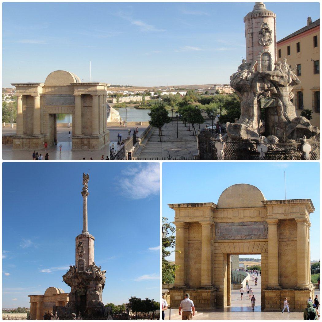 清真寺大教堂旁的小廣場,和哥多華守護天使聖拉斐爾的雕塑。