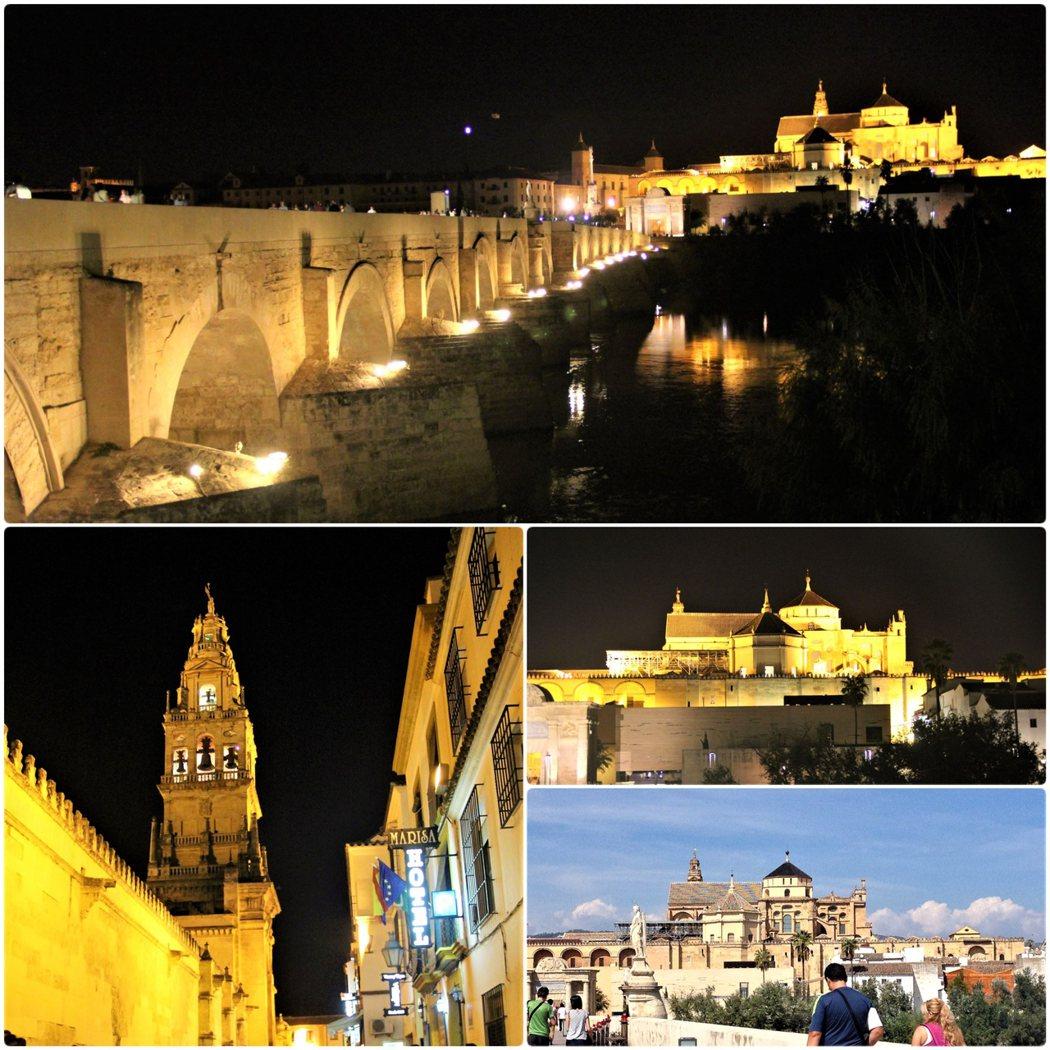 清真寺大教堂夜晚與白天不同的風貌