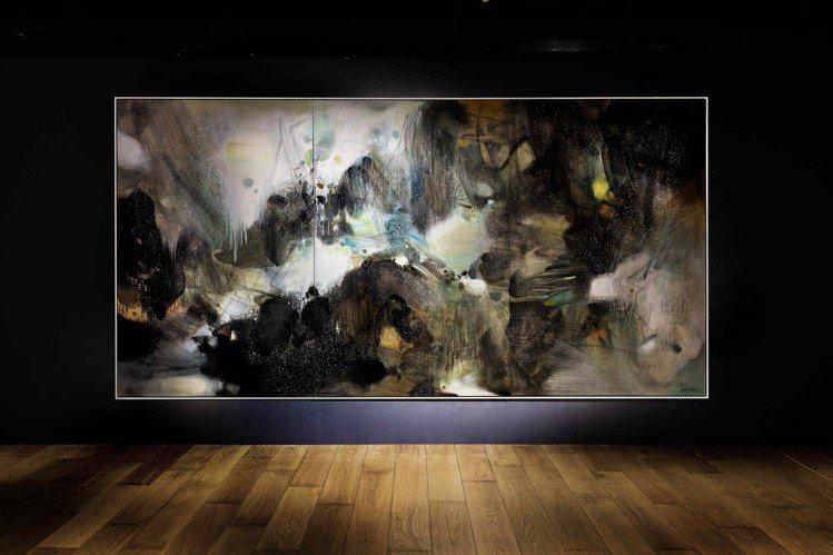 朱德群「盛世雪」油畫三聯屏,1986年作,估價約2.9億元台幣(8,000萬港元...
