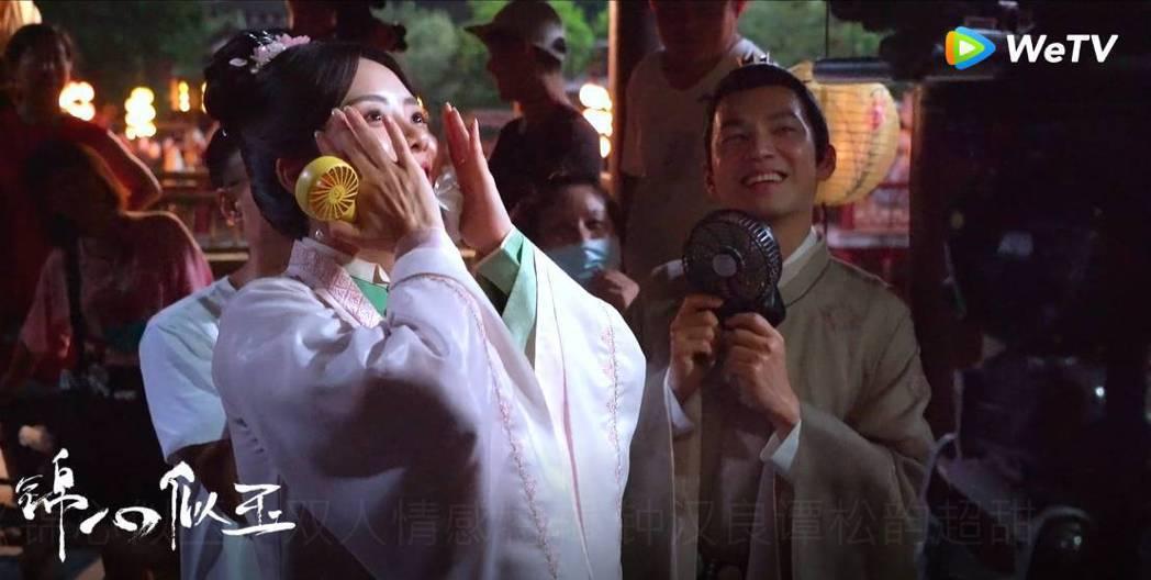 譚松韻看吻戲畫面很害羞。圖/WeTV海外站提供
