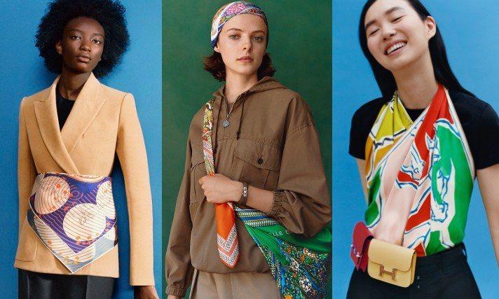 在愛馬仕最新曝光的形象照中一次展現出絲巾的多種搭配法,滿滿創意也提供了更多穿搭靈...