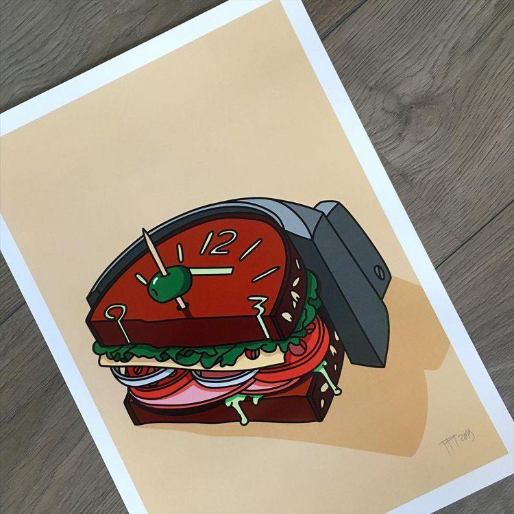 沛納海經典的「三明治」面盤,在Teun van Heerebeek筆下變得可口而...