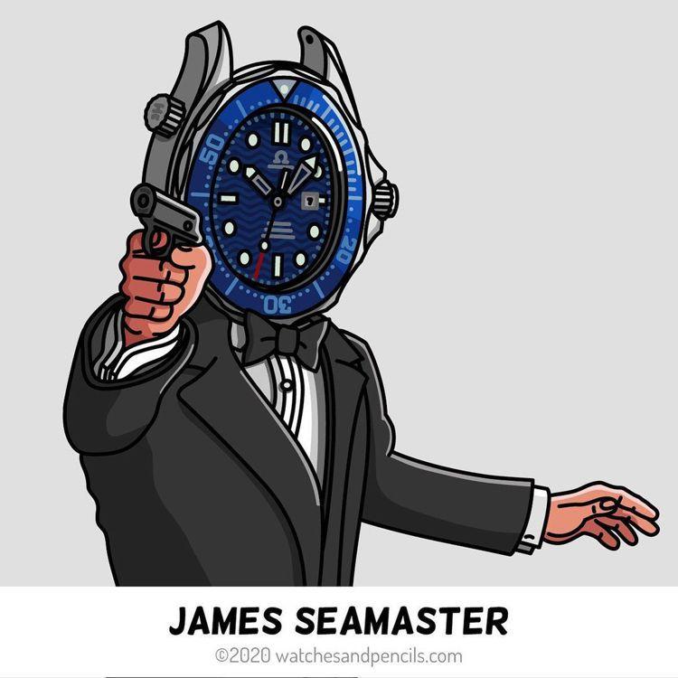 史上最厲害的情報員與他的手表?詹姆士與海馬的組合,無人能出其右。圖 / 翻攝自i...