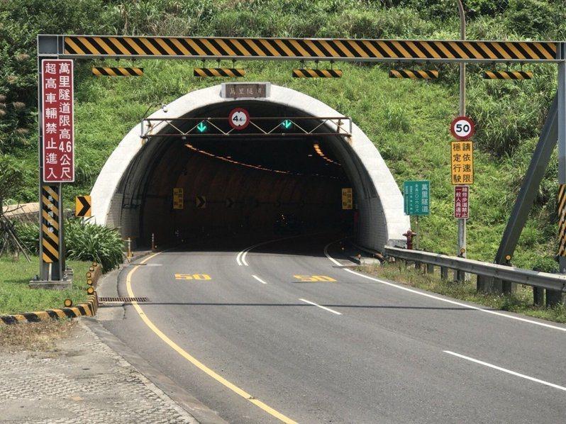 萬里隧道率先實施區間測速,成功降低肇事率。 圖/聯合報系資料照片