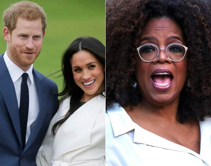 哈利與梅根接受歐普拉訪問,衝擊英國王室形象。法新社